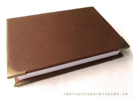 Bucheinband Hardcover Metall-Buchecken altmessingfarben 20mm Schenkellänge