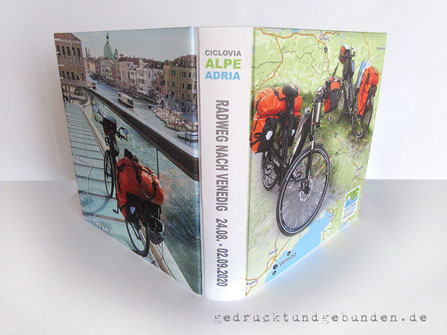 Fotoalbum Ciclovia Alpe Adria Radweg, Reisealbum, Hardcover gepolstert, Foto auf Stoff gedruckt, individuelles Layout inkl. Bildbearbeitung