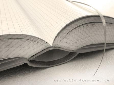 A4 Buch Hardcover 1000 Seiten kariert Fadenheftung