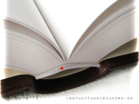 Gästebuch Ledereinband Hardcover 400 Seiten 160g-Papier naturweiß Handheftung