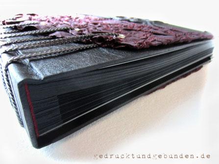 Sonderfertigung Buchblock schwarz Buchblock Fadenheftung (Gästebuch) + Fotoalbum-Buchblock ohne Pergamin