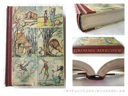Buchreparatur Märchenbuch Grimms Märchen