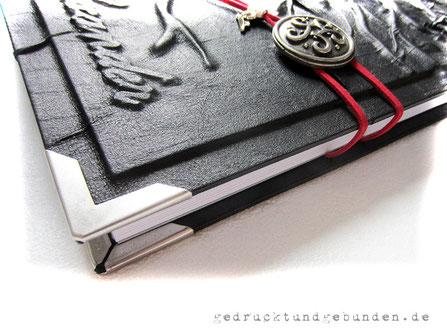 Bucheinband Hardcover Metallbuchecken matt vernickelt 30mm Schenkellänge