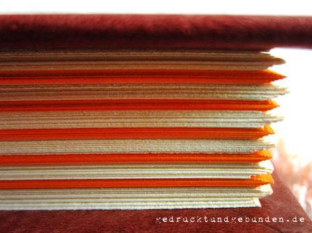 Buchblock Fadenheftung unbeschnitten