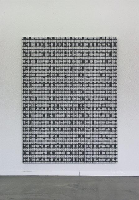 Jean-Claude Houlmann, Lack auf MDF, 150x200cm, Kunstraum Florenz, Basel, Foto © Nici Jost