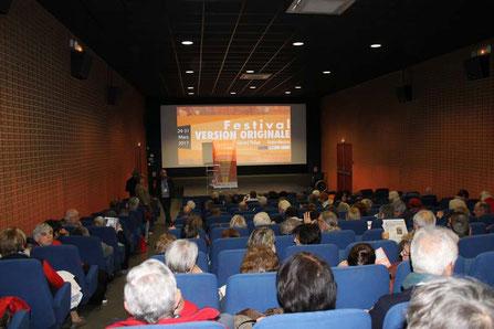 Le Festival Version Originale 2017  au cinéma Gérard-Philipe de Gujan-Mestras. Un rendez-vous très suivi par les cinéphiles du Val de l'Eyre... et d'ailleurs. Photo M.M.