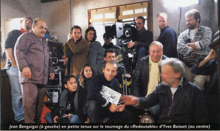 "Pendant le tournage du film policier  ""Les Redoutables"", oeuvre de 13 réalisateurs dont Yves Boisset, Georges Lautner  et Claude Chabrol. Reproduction Archives municipales de Lège-Cap-Ferret."