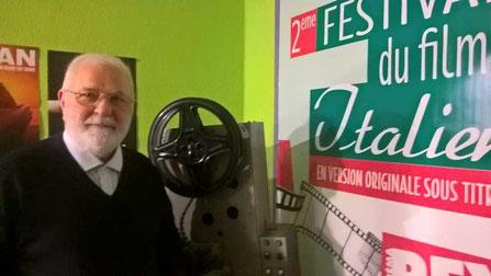 Michel Vizac, président de l'association France-Italie, organisatrice de la troisième édition du festival du film italien à Andernos-les-Bains. Photo M.M.