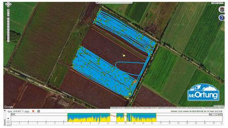 Landmaschinen-Ortung mit GPS ermöglicht effiziente Flächennutzung