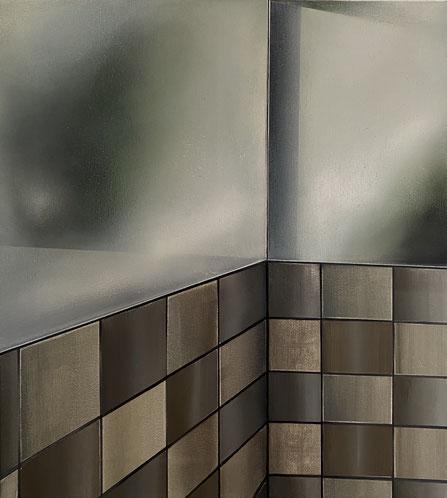 o.T, 2021, Acryl und Öl auf Leinwand, 50x 45 cm