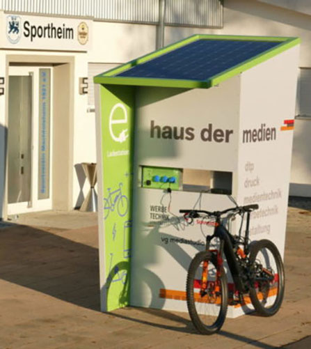 Solar E-Bike Ladestation