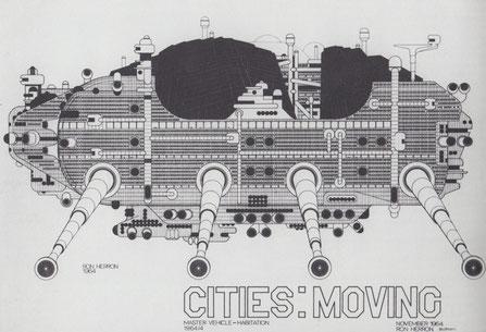 """The walking cities"" di Ron Herron, 1964"