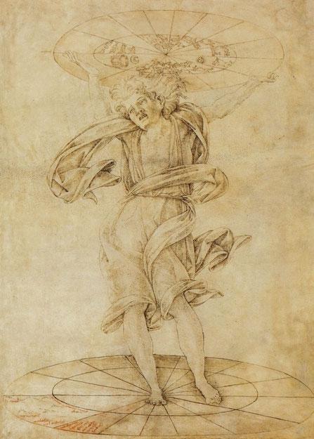 Франческо ди Джорджо. Атлант. ок. 1472-75. Муз. Герцога Антона Ульриха