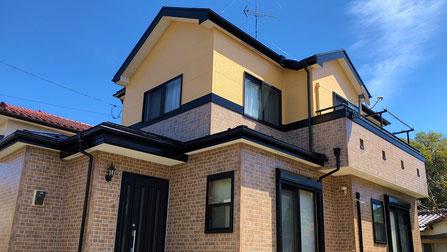 鴻巣市の戸建住宅、外壁塗装・屋根塗装工事完成後の写真