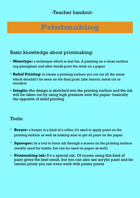 printmaking lesson KS1 KS2 art lesson lesson plan