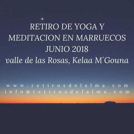 Retiros de yoga meditación y naturaleza en Marruecos. Contacta