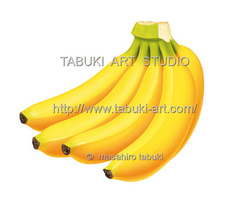 バナナイラスト banana フルーツ くだもの レンタルイラストデータ デジタル