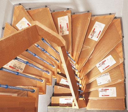 Schutzverpackung Treppe und Treppenstufen - Bucher Treppen