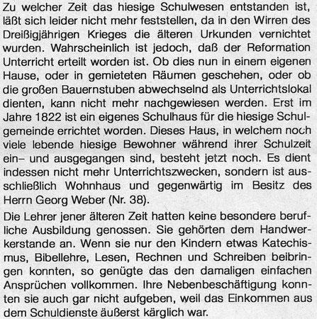Bild: Teichler Wünschendorf Erzgebirge Schulwesen Krauß