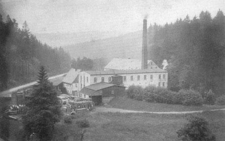 Bild: Teichler Wünschendorf Erzgebirge Alte Seifertmühle 1890