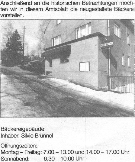 Bild: Teichler Wünschendorf Erzgebirge Bäckerei Süß