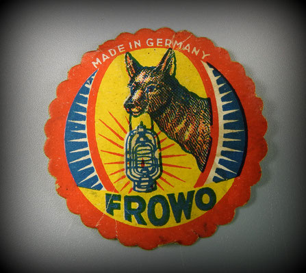 FROWO - FROHLICH & WOLTER, BEIERFELD.  1937 FROWO STICKER