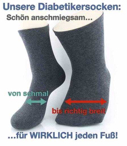Bild: diabetikersocken für jeden Fuß, Strumpf-Klaus