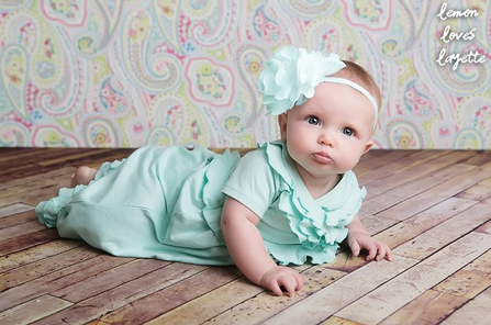 Lemon loves Lime, Lomon Loves Layette, baby headband, baby gown, take home outfit, baby first picture, baby shower gift