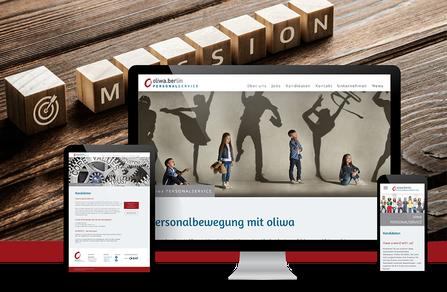 Webseite für Personalservice