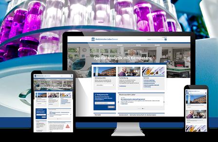 Webseite für Labor