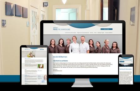 Webseite für Zahnarzt