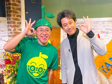 ↑ ミヤネ屋新春特番2021で大泉洋さんとご当地トークカボ!