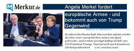 Angela Merkel esige l'esercito europeo – ma ottiene risposta negativa da Trump