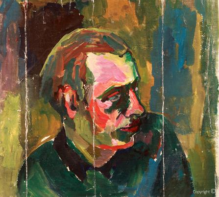 Bettina Heinen-Ayech (1937-2020): Portrait von Amud Uwe Millies, 1957