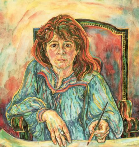 Bettina Heinen-Ayech (1937-2020): Selbstbildnis, 1991