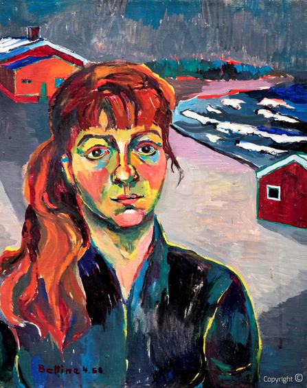 Bettina Heinen-Ayech (1937-2020): Bildnis von Youma, 1963