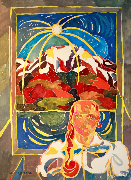 Bettina Heinen-Ayech (937-2020): Self-portrait in Ticino, 1956
