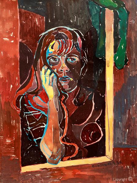 Bettina Heinen-Ayech (1937-2020): Selbstbildnis, 1955
