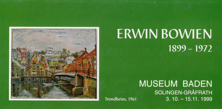 Invitation card on the occasion of Erwin Bowien's 100th birthday
