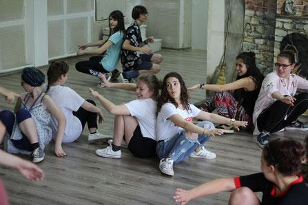 Atelier de théâtre avec des jeunes de Bulgarie, avril 2018