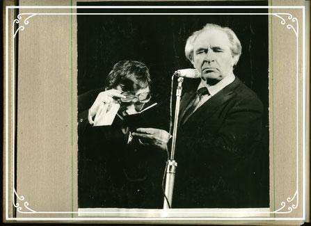 Евгений Лебедев и Рудольф Фурманов. Концертный номер на эстраде. 80-е гг. ХХ века