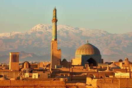 Yazd, windtoren, ventilatie, windvanger, woestijnstad