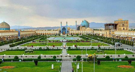 Het Naghshe Jahan Plein, Meidan Emam, Meidan Sjah, Ontwerp van de wereld, Esfahan, Isfahan