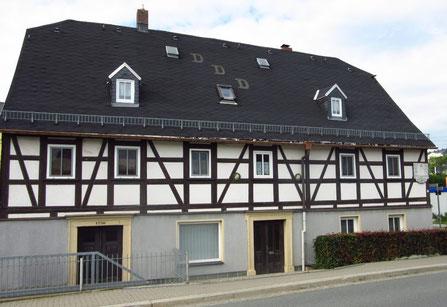 In diesem Haus war die erste Arztpraxis von Burkhardtsdorf