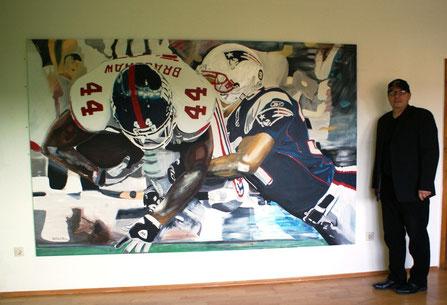 Go Patriots, go!, 280x180 cm, Acryl/Leinwand