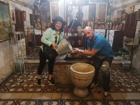 Pastor Asa from Australia and  me by the well at Sychar