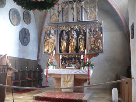 Spätgotischer Hauptaltar der St. Egidienkirche in Beerbach