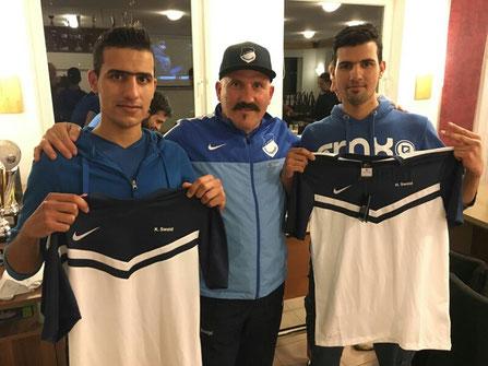 Kaydar und Hayder Swaid erhalten den neuen SCO-Dress