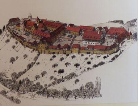 Kloster Lorch um 1100 (Bild Quelle: Kloster Lorch)