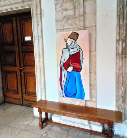 Mon Spahi accroché au tribunal de Verdun